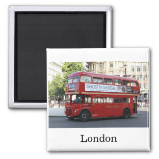London bus square magnet