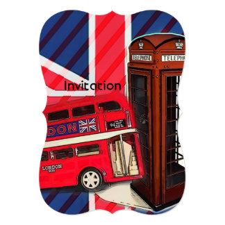 london bus telephone booth british fashion card