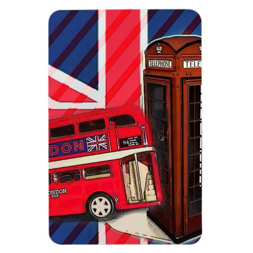 london bus telephone booth british fashion magnets