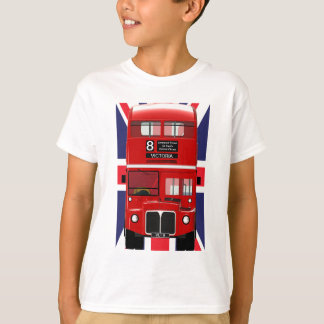 London Bus with Union Jack T-Shirt