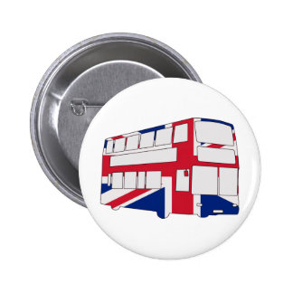 London Bus with Union Jack t shirts and gifts 6 Cm Round Badge