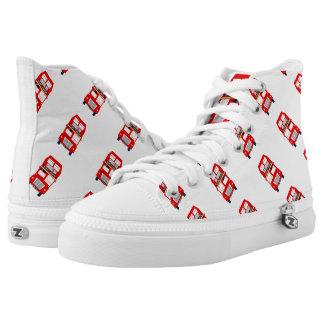 London Bus Zipz High Top Shoes