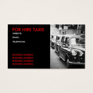 London cabbies business card