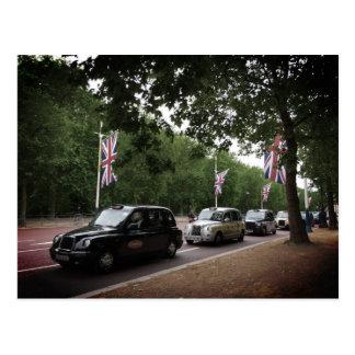 london cabs postcard
