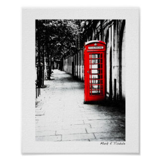 London Calling - Red British Phone Box - Small Print