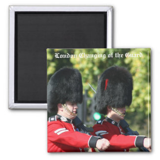 London Changing of the Guard Square Magnet