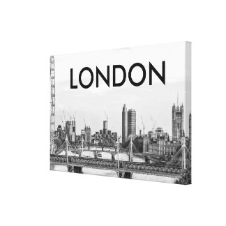 London City Ben Ben Thames Black & White Canvas