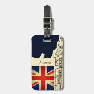 London City Big Ben Union Jack Flag Luggage Tag