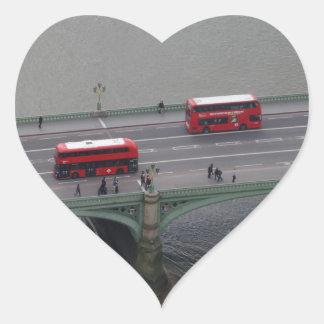 London City Busses  Heart Sticker