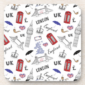 London City Doodles Pattern Coaster