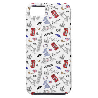 London City Doodles Pattern iPhone 5 Cover