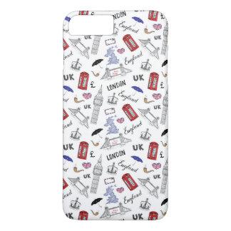 London City Doodles Pattern iPhone 8 Plus/7 Plus Case