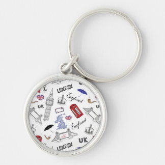 London City Doodles Pattern Key Ring