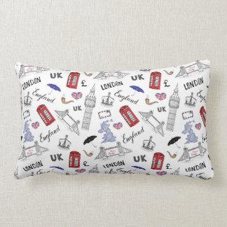 London City Doodles Pattern Lumbar Cushion