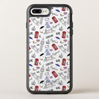 London City Doodles Pattern OtterBox Symmetry iPhone 8 Plus/7 Plus Case