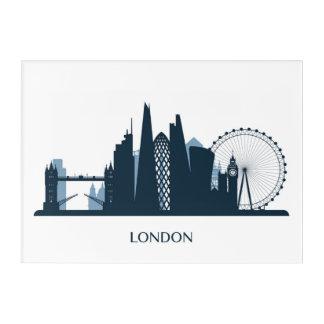 London City Skyline Acrylic Wall Art