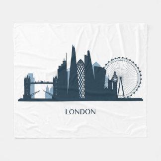 London City Skyline Fleece Blanket