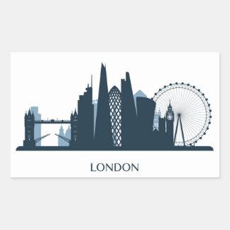 London City Skyline Rectangular Sticker
