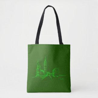 London Classy Elegant Sketch Simple Drawing Chic Tote Bag