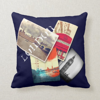 London Collage Cushion