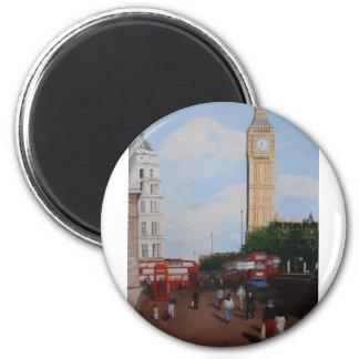 London Corner 6 Cm Round Magnet