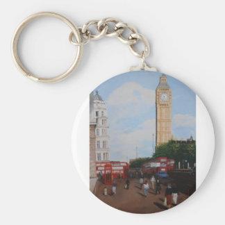 London Corner Basic Round Button Key Ring