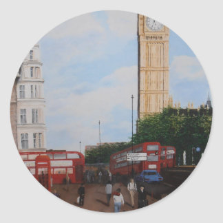 London Corner Classic Round Sticker
