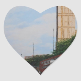 London Corner Heart Sticker