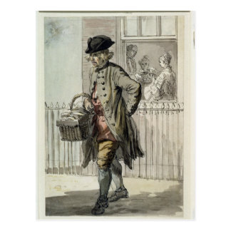 London Cries: A Muffin Man, c.1759 (w/c on paper) Postcard