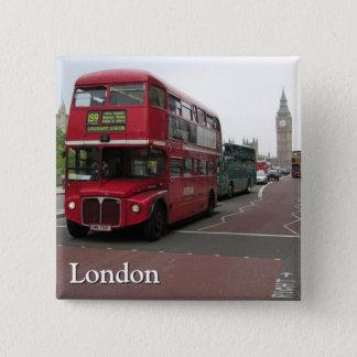 London Double-decker Bus 15 Cm Square Badge