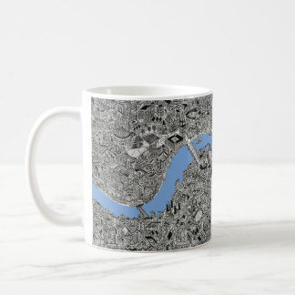 london drawing map cup
