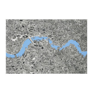 London Drawing map illustration Canvas Print