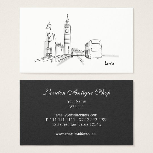 London Elegant Classic Simple Sketch Sophisticated Business Card