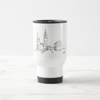 London Elegant Classy Sketch Nostalgic Beautiful Travel Mug