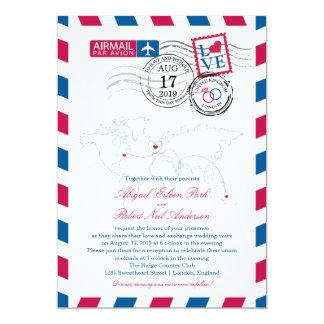 London England Airmail | Wedding Card