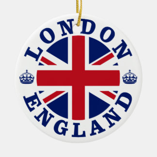London England British Flag Roundel Ceramic Ornament