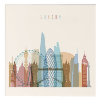London, England | City Skyline Acrylic Wall Art