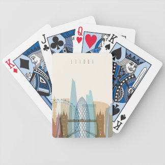 London, England | City Skyline Bicycle Playing Cards
