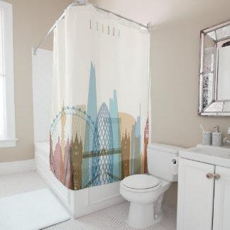 London, England | City Skyline Shower Curtain