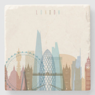 London, England | City Skyline Stone Coaster