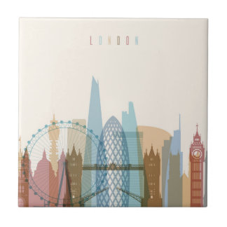 London, England | City Skyline Tile