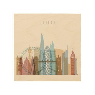 London, England   City Skyline Wood Print