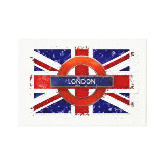 London, England, Great Britain, Union Jack, Flagge Canvas Print