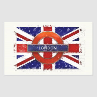 London, England, Great Britain, Union Jack, Flagge Rectangular Sticker