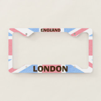 London England License Plate Frame