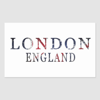 London, England Rectangular Sticker