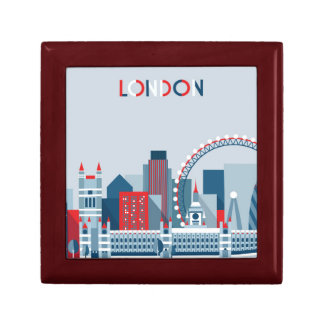 London, England | Red, White and Blue Skyline Gift Box