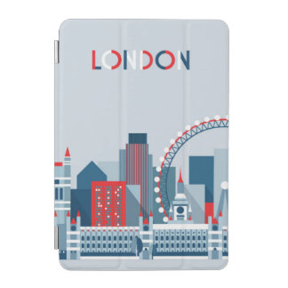 London, England   Red, White and Blue Skyline iPad Mini Cover