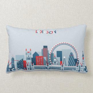 London, England | Red, White and Blue Skyline Lumbar Cushion