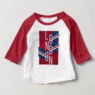 London, England | Retro Illustrated Typography Baby T-Shirt
